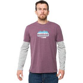 ABK Cake Longsleeve T-shirt Heren, dark fig
